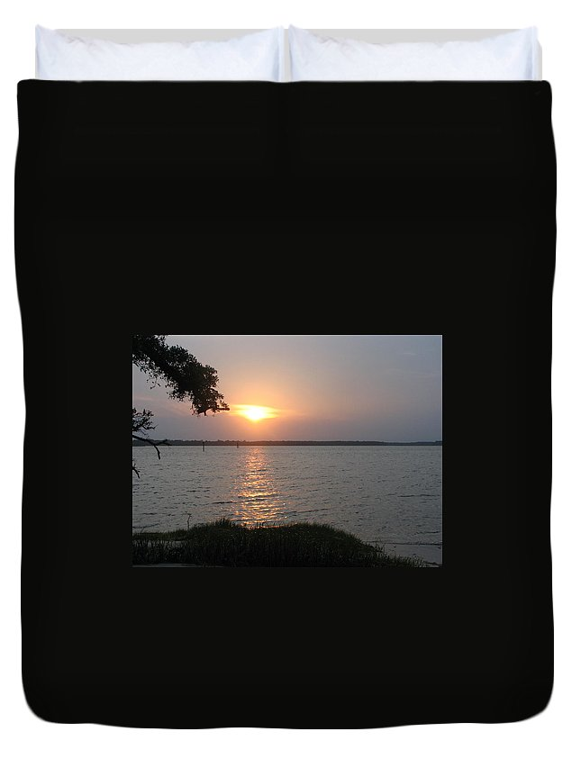 Outer Banks Duvet Cover featuring the photograph Obx Sunset by Brad Nellis
