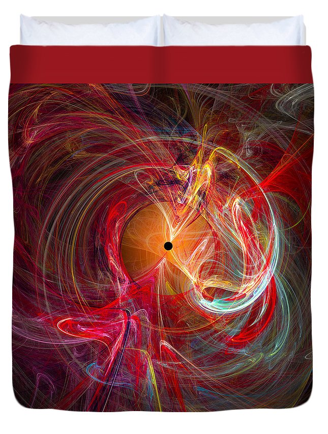 �markwballard Duvet Cover featuring the digital art Occular Orgasm - Cats Eye by Mark W Ballard