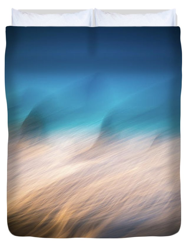 America Duvet Cover featuring the photograph Ocean Abstract by William Freebilly photography