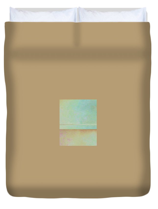 Light Blue Duvet Cover featuring the photograph Ocean And Sand by Peggy Leyva Conley
