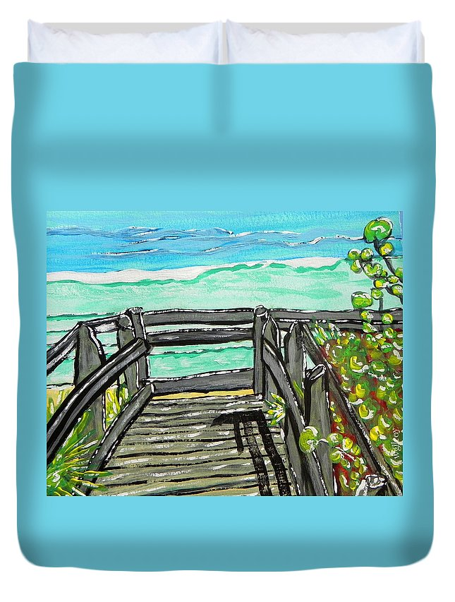 Wgilroy Duvet Cover featuring the painting ocean / Beach crossover by W Gilroy
