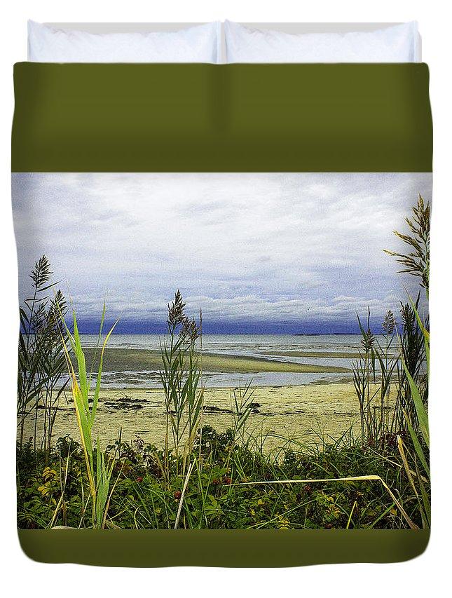 Landscape Duvet Cover featuring the photograph Ocean Calm Before Sunrise - Rocky Neck State Park by Geneva Renegar