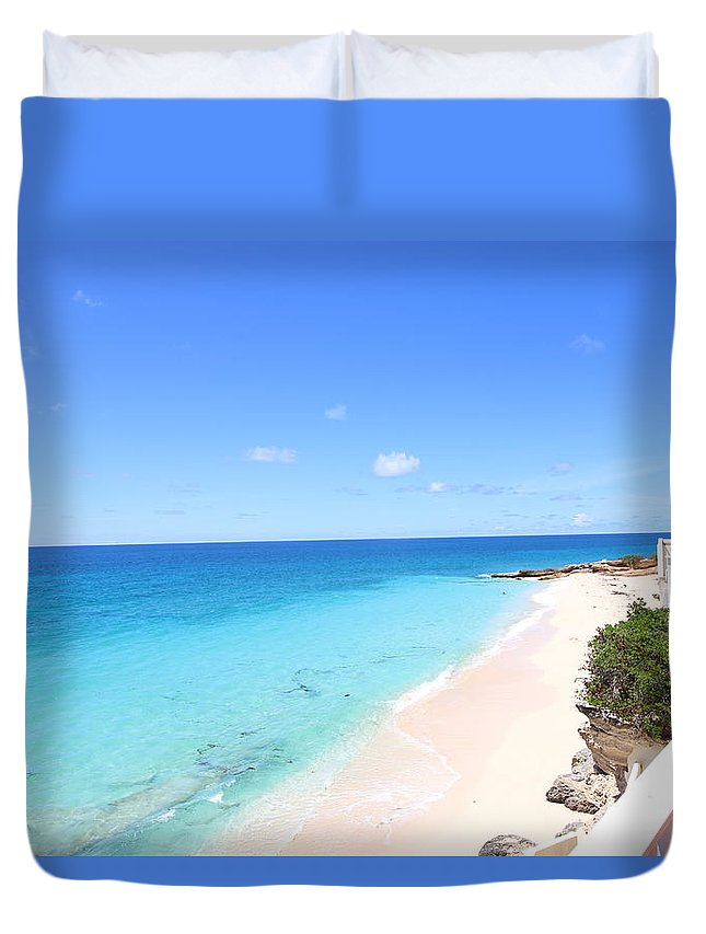 Landscape Duvet Cover featuring the photograph Ocean Club St Maarten by Leon Miller