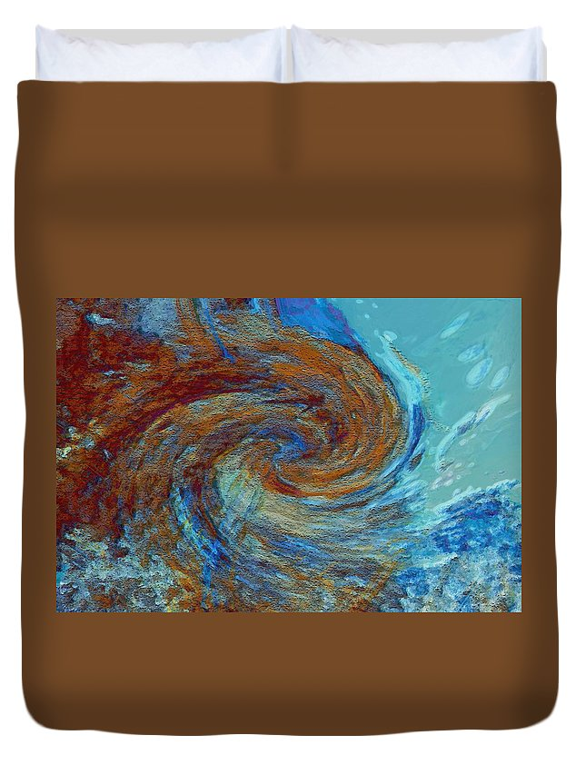 Hurricane Duvet Cover featuring the digital art Ocean Colors by Linda Sannuti
