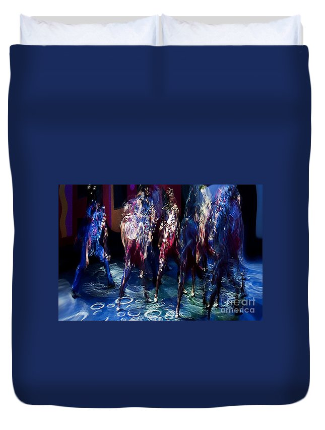 Cruise Duvet Cover featuring the digital art Ocean Dancing by Anthony C Ellis