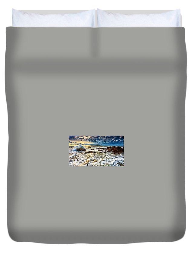 Ocean Duvet Cover featuring the digital art Ocean by Dorothy Binder