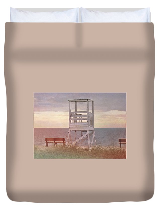 Ocean Duvet Cover featuring the photograph Ocean Lookout by JAMART Photography