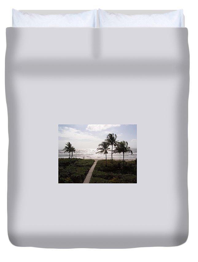 Sanibel Duvet Cover featuring the photograph Ocean View 2007 by Elizabeth Klecker