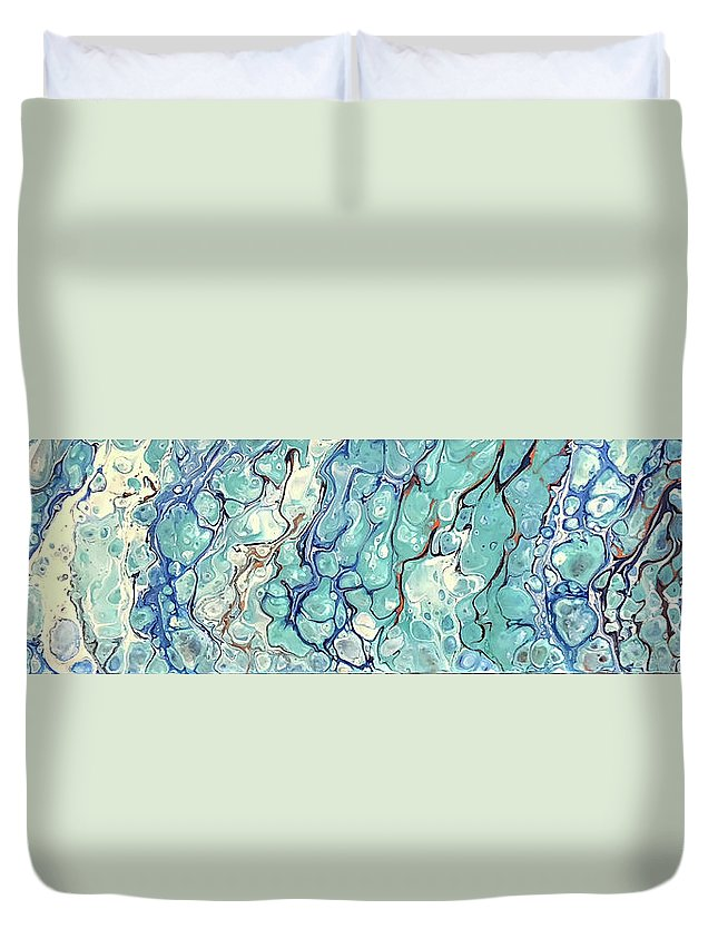 Acrylic Duvet Cover featuring the photograph Ocean Waves by Teresa Wilson