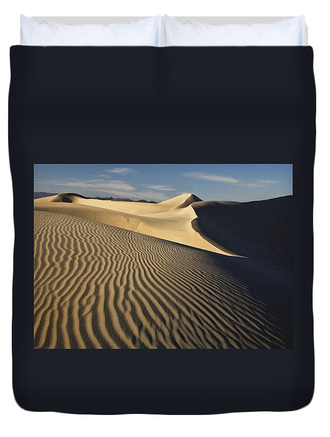 Landscape Duvet Cover featuring the photograph Oceano Dunes by Sharon Foster