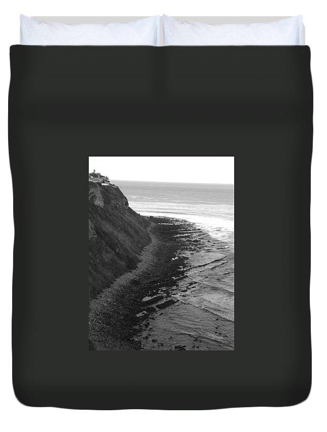 Beaches Duvet Cover featuring the photograph Oceans Edge by Shari Chavira