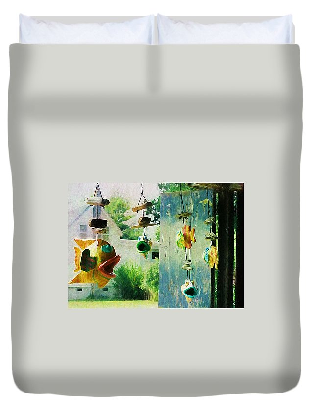 Fish Duvet Cover featuring the photograph Ocracoke Fish by JAMART Photography