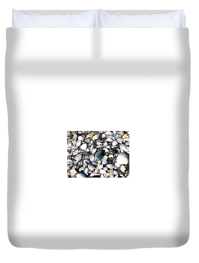 Ocracoke Duvet Cover featuring the photograph Ocracoke Shells by Wayne Potrafka