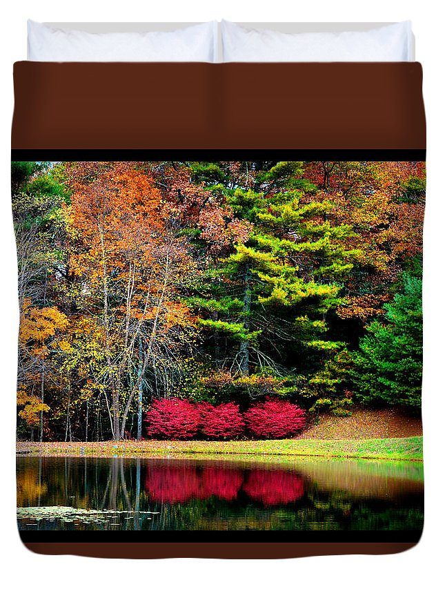 Fall In The Blue Ridge Duvet Cover featuring the photograph October Afternoon In The Blue Ridge Mountains by Susanne Still