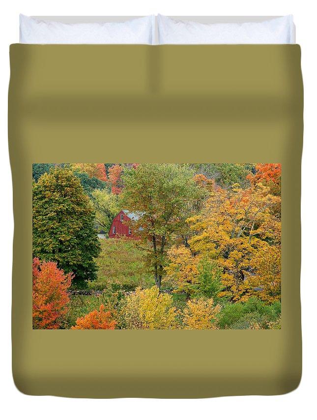October Duvet Cover featuring the photograph October Fifteenth by Robert DeFosses