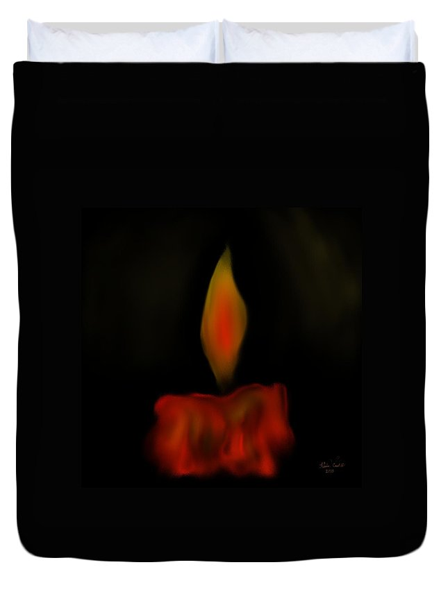 Candle Duvet Cover featuring the painting October Flame by Kevin Caudill