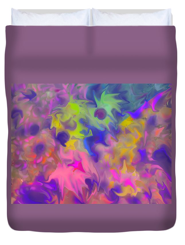 Abstract Duvet Cover featuring the digital art October by Ian MacDonald