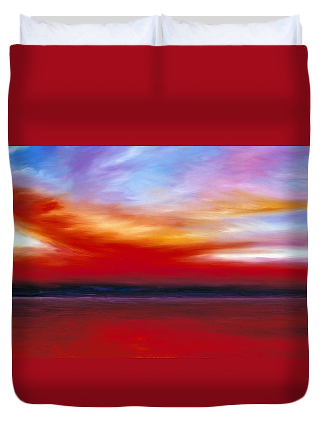 Clouds Duvet Cover featuring the painting October Sky by James Christopher Hill