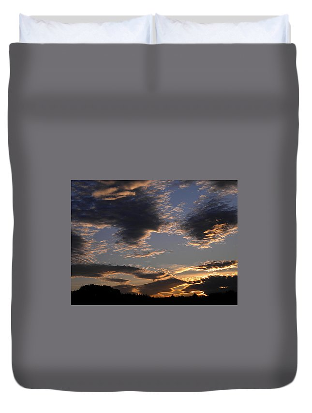 Landscape Duvet Cover featuring the photograph October Sky by Joan Gal-Peck