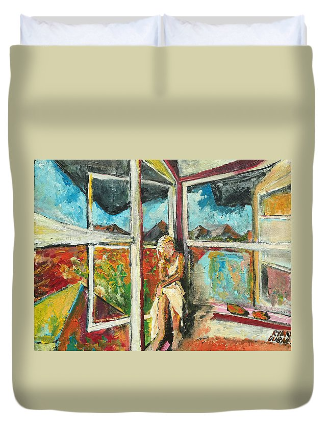 Girl Duvet Cover featuring the painting October Thirteenth by Ryan Dubney