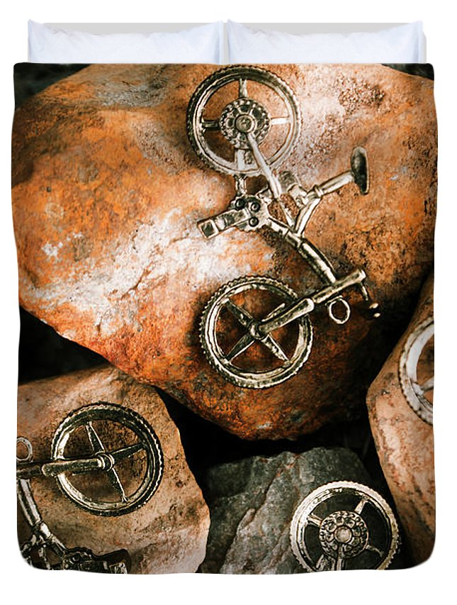 Bike Duvet Cover featuring the photograph Off-road Cycling by Jorgo Photography - Wall Art Gallery