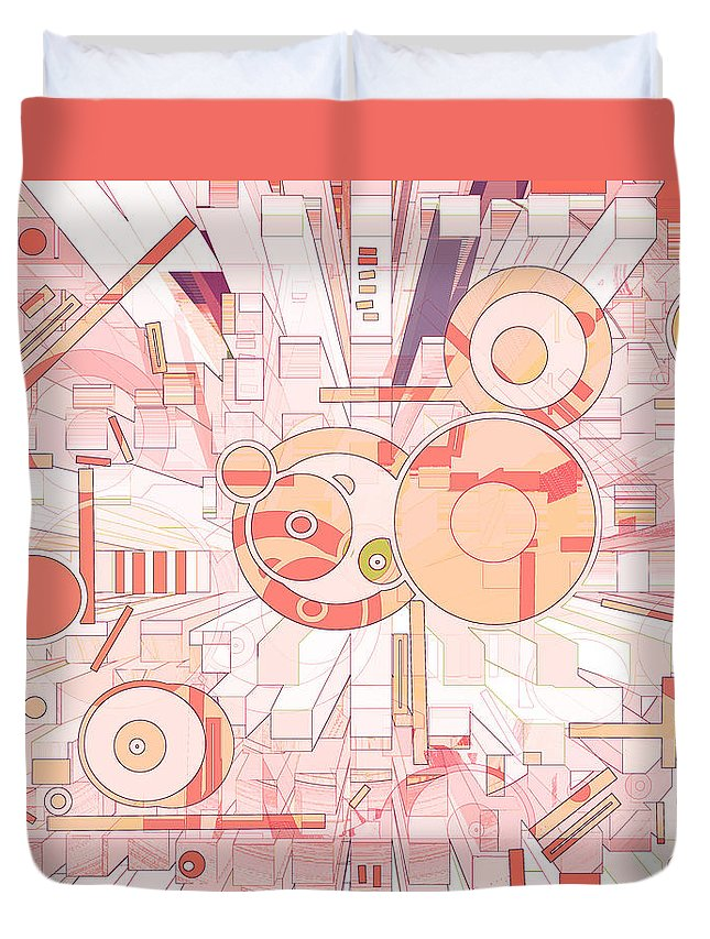 Spatial Duvet Cover featuring the digital art Off The Grid 35 by Lynda Lehmann