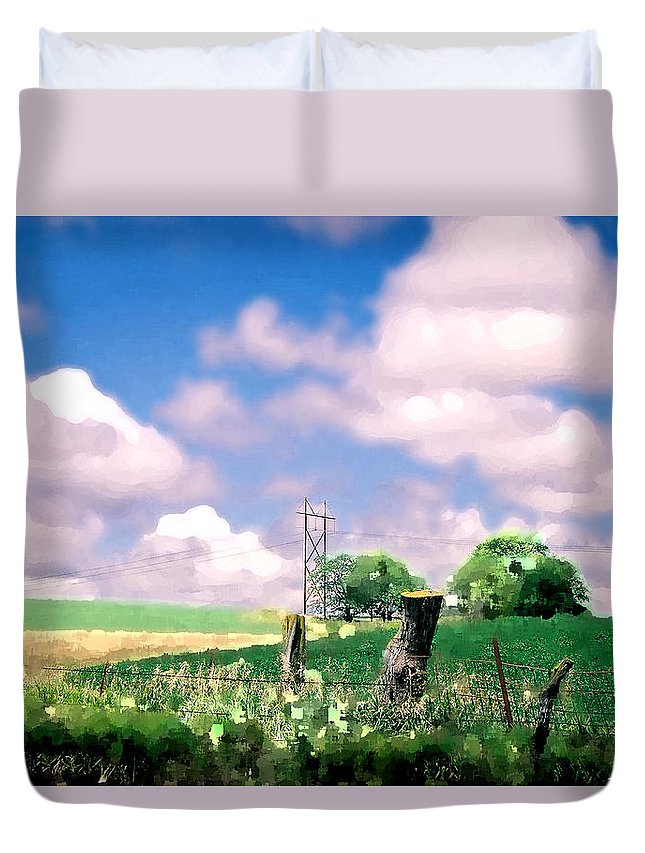 Landscape Duvet Cover featuring the photograph Off The Grid by Steve Karol