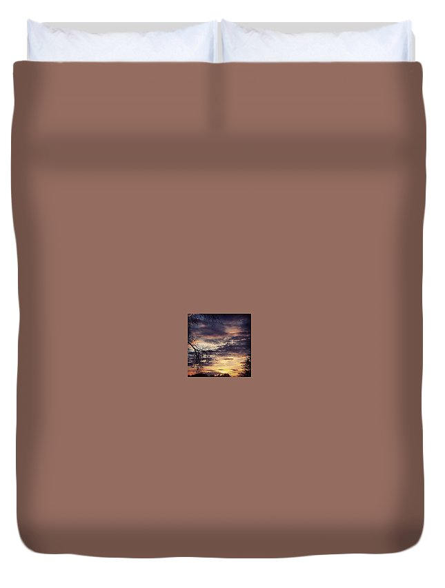 Sunset Duvet Cover featuring the photograph Off The Porch 3 by Luis Davis
