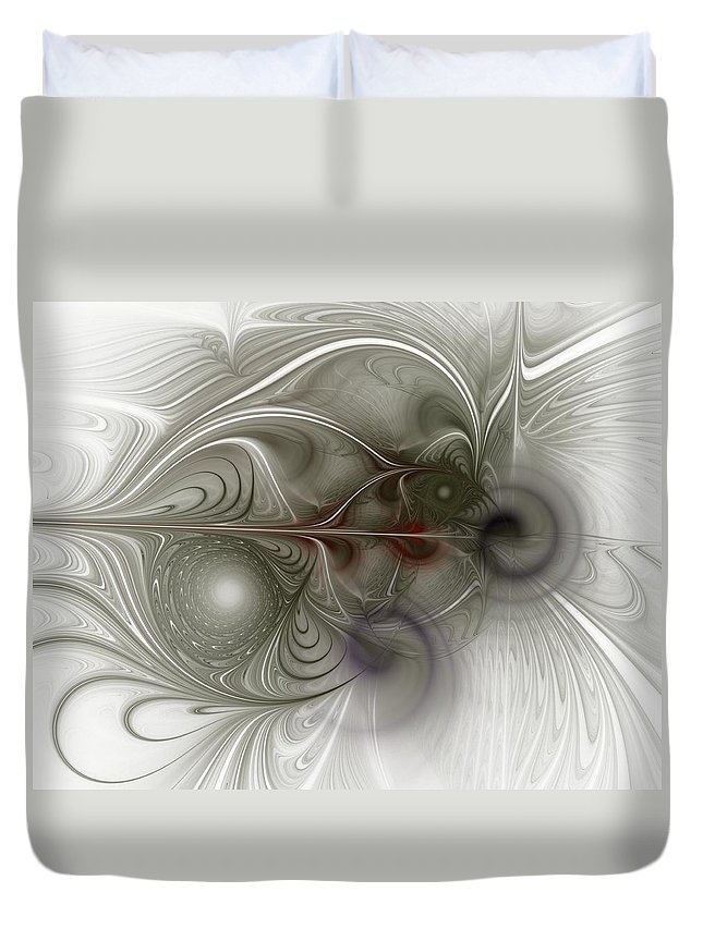 Spiritual Duvet Cover featuring the digital art Oh That I Had Wings - Fractal Art by NirvanaBlues