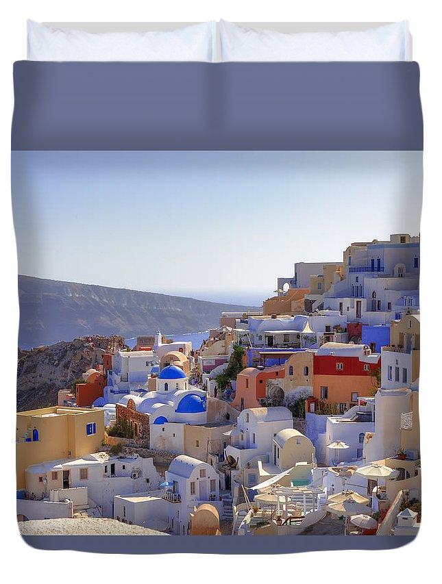 Oia Duvet Cover featuring the photograph Oia - Santorini by Joana Kruse