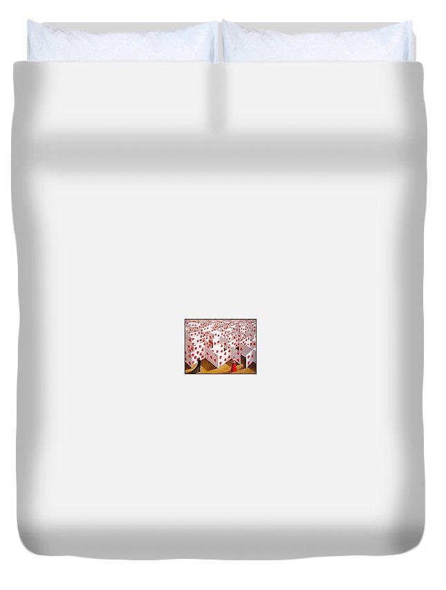 Envelope Duvet Cover featuring the digital art Olbinski Paints Mozart Rafal Olbinski by Eloisa Mannion