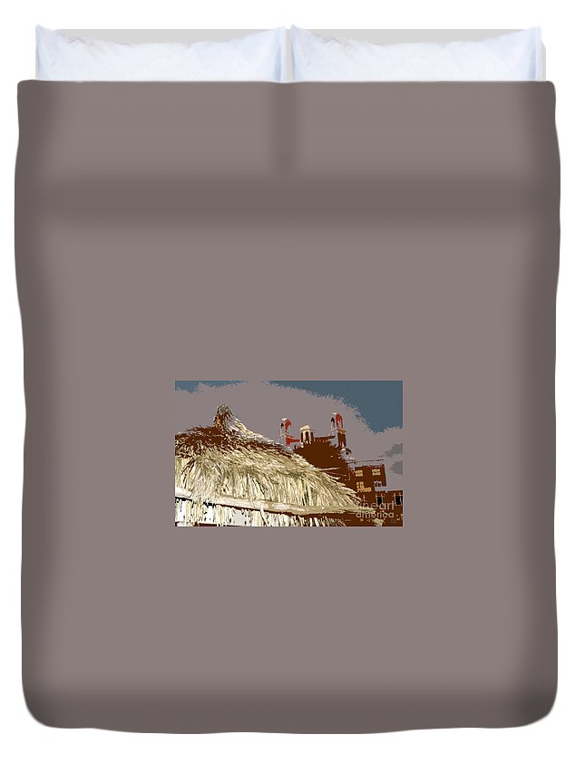 Baja Mexico Duvet Cover featuring the painting Old Baja by David Lee Thompson