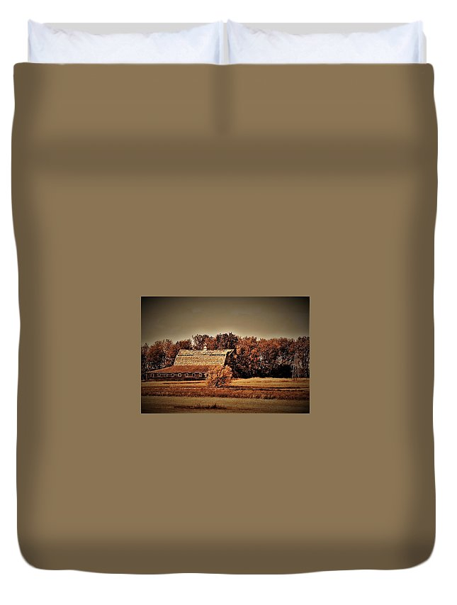 Old Duvet Cover featuring the photograph Barn Dance North Dakota by Vice Photo