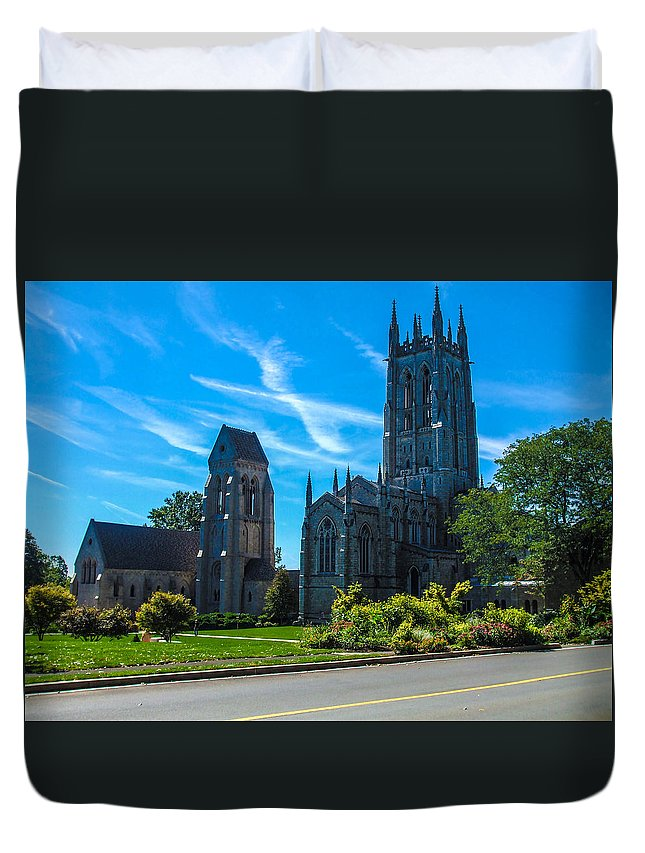 Church Duvet Cover featuring the photograph Old Beauty Of History by Gerald Kloss