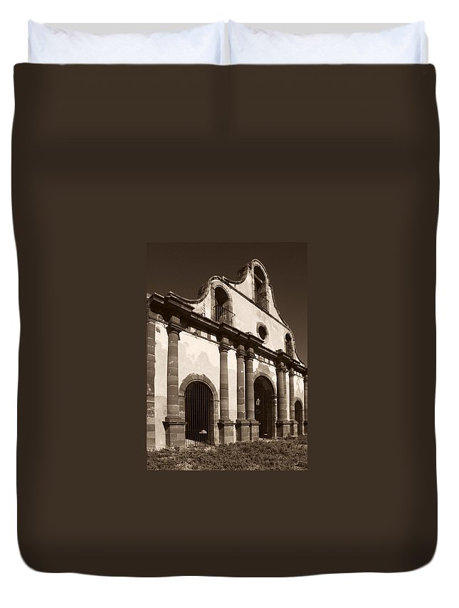 Old Guerrero Duvet Cover featuring the photograph Old Catholic Mission Ghost Town by Marilyn Hunt
