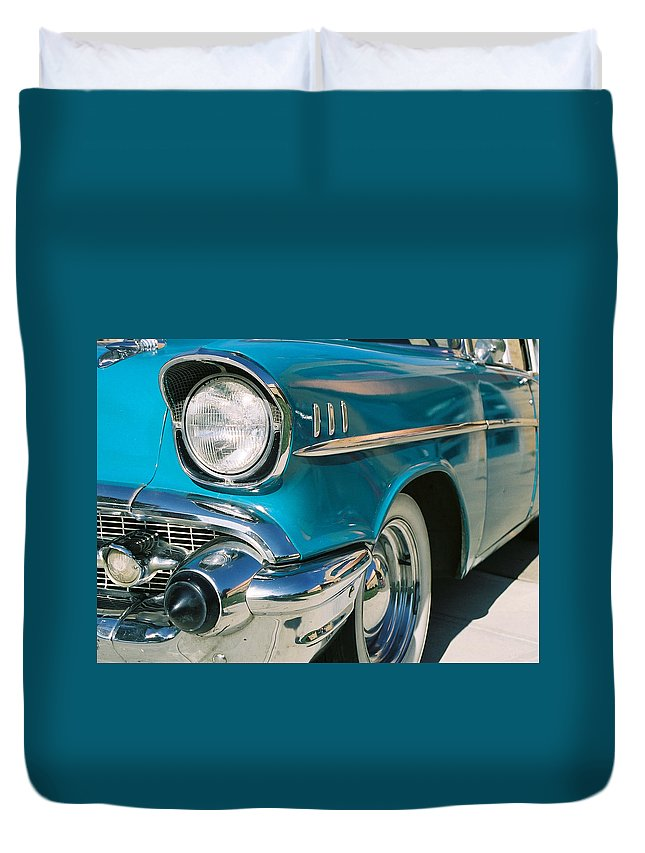Chevy Duvet Cover featuring the photograph Old Chevy by Steve Karol