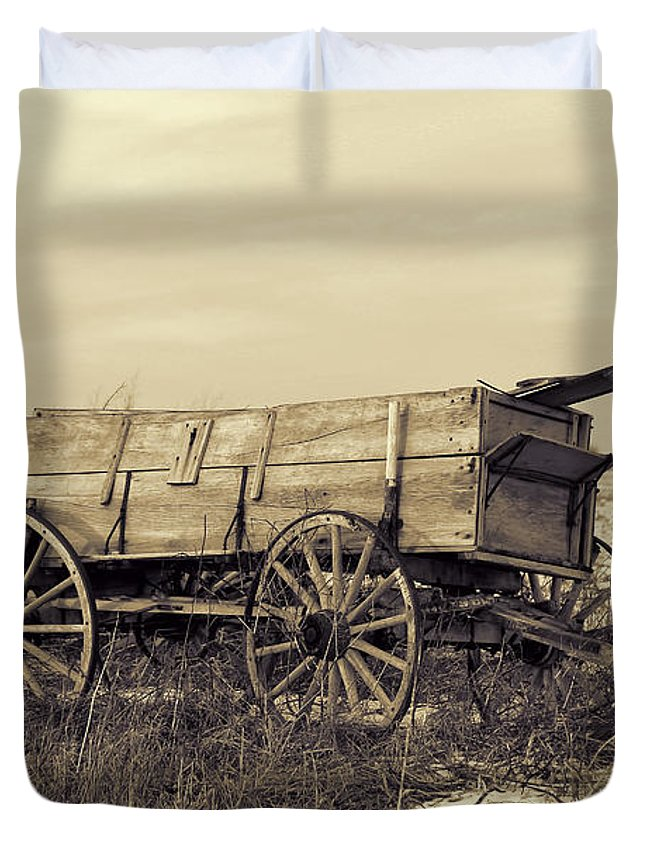 Theresa Campbell Duvet Cover featuring the photograph Old Days by Theresa Campbell