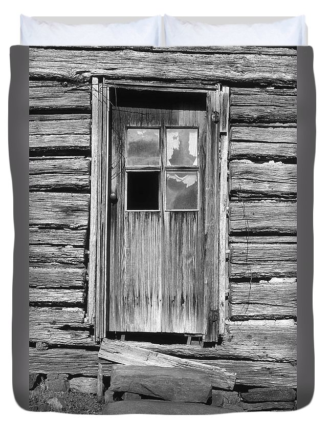 Aged Duvet Cover featuring the photograph Old Door by Richard Rizzo