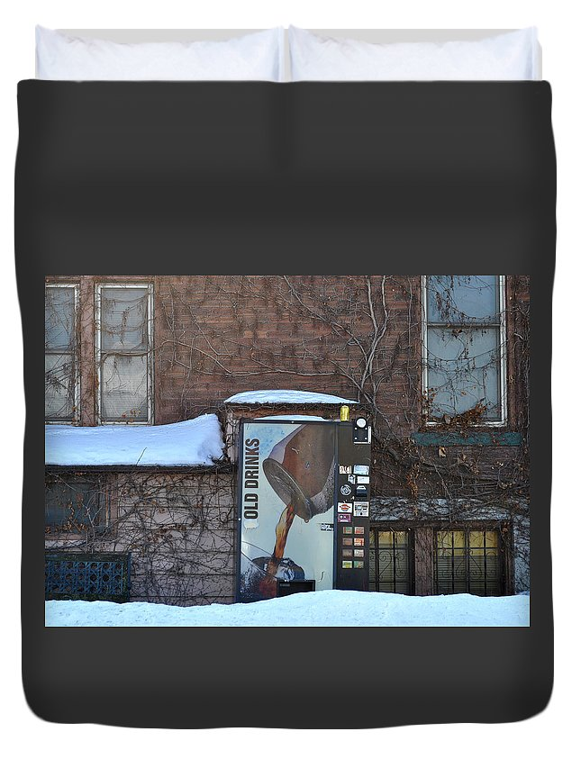 Drinks Duvet Cover featuring the photograph Old Drinks by Tim Nyberg