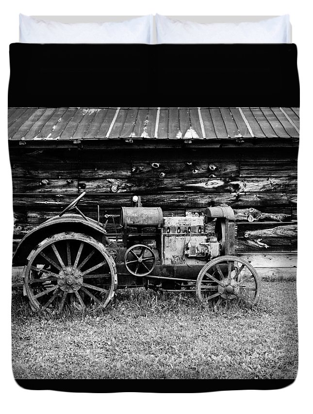 Mccormick Duvet Cover featuring the photograph Old Farm Tractor by M G Whittingham