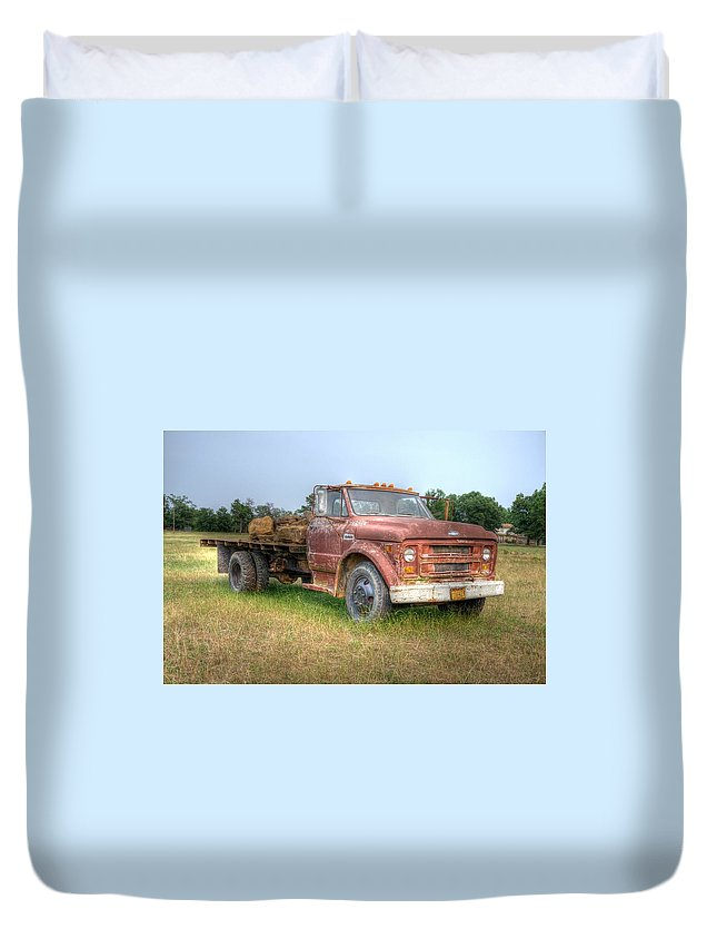 Duvet Cover featuring the photograph Old Farm Truck by Rod Cuellar