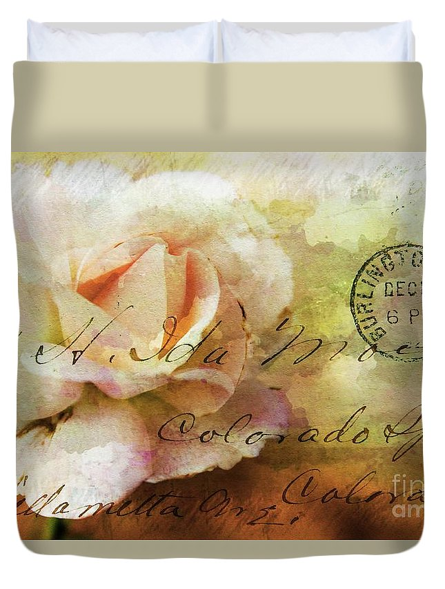 Rose Duvet Cover featuring the photograph Old Fashioned by Clare Bevan