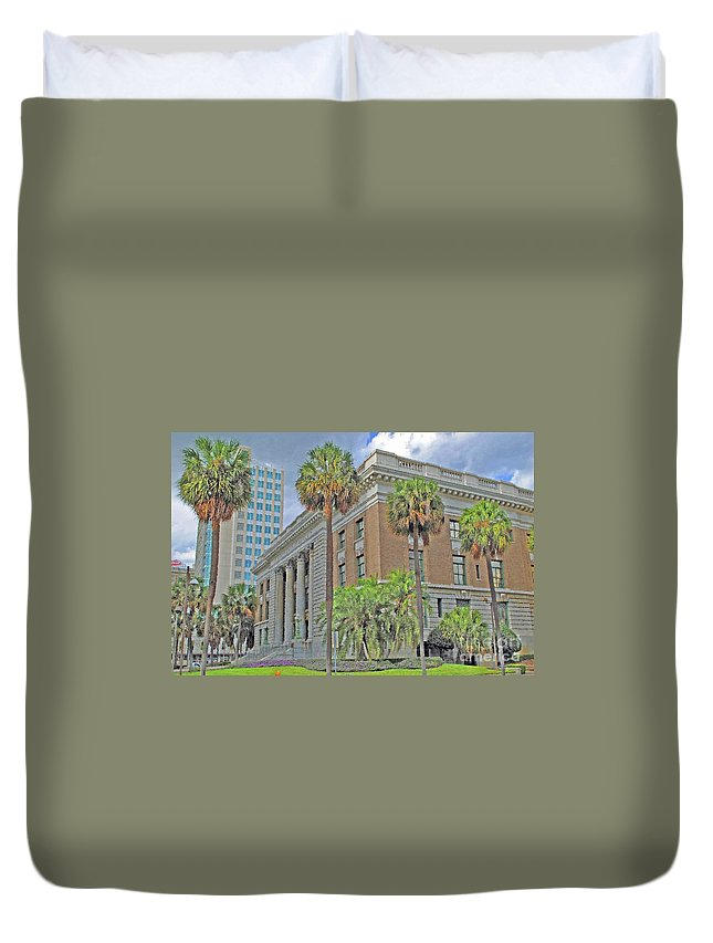 Tampa Duvet Cover featuring the photograph Old Federal Building by Jost Houk