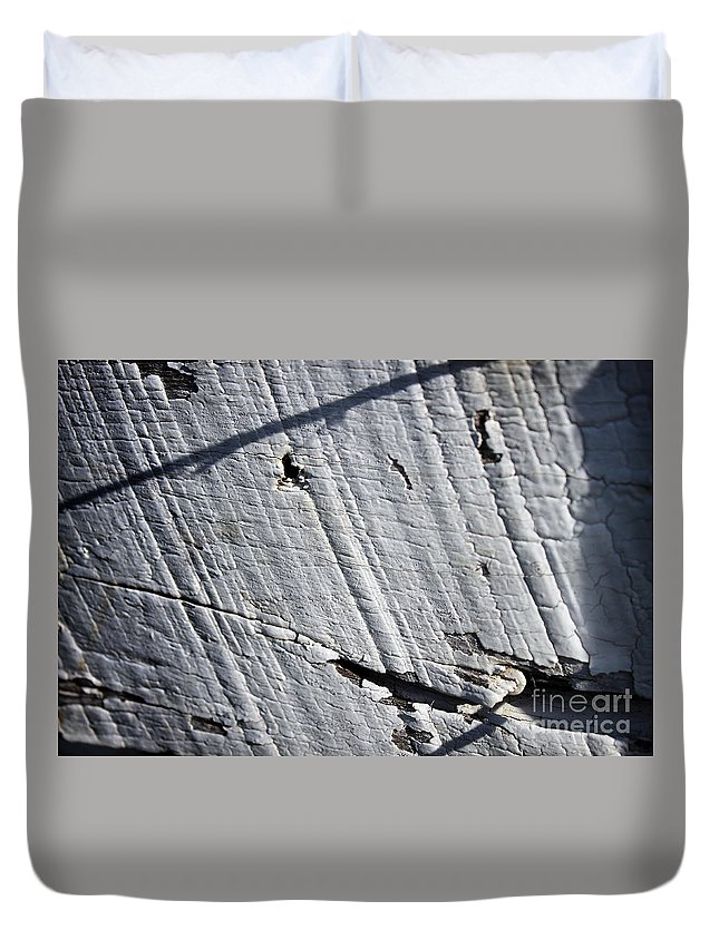 Abstract Duvet Cover featuring the photograph Old Fence by Todd Blanchard