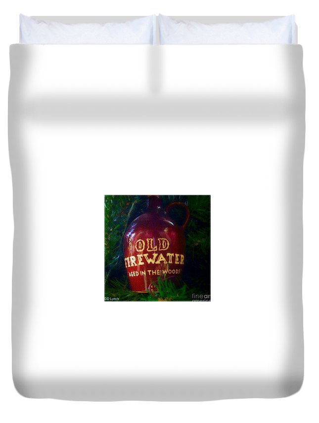 Photography Duvet Cover featuring the photograph Old Firewater Aged In The Woods by Debra Lynch