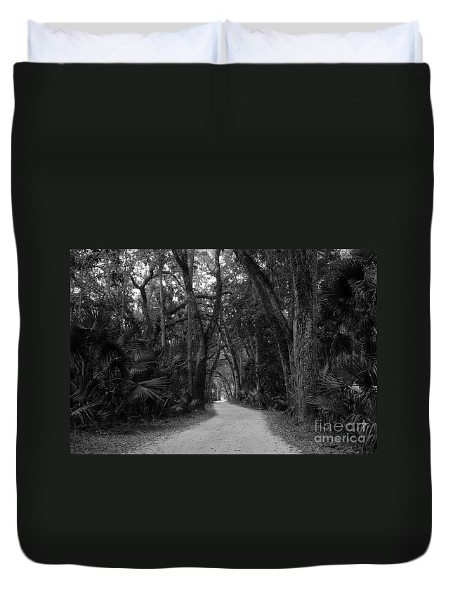 Landscape Duvet Cover featuring the photograph Old Florida by David Lee Thompson