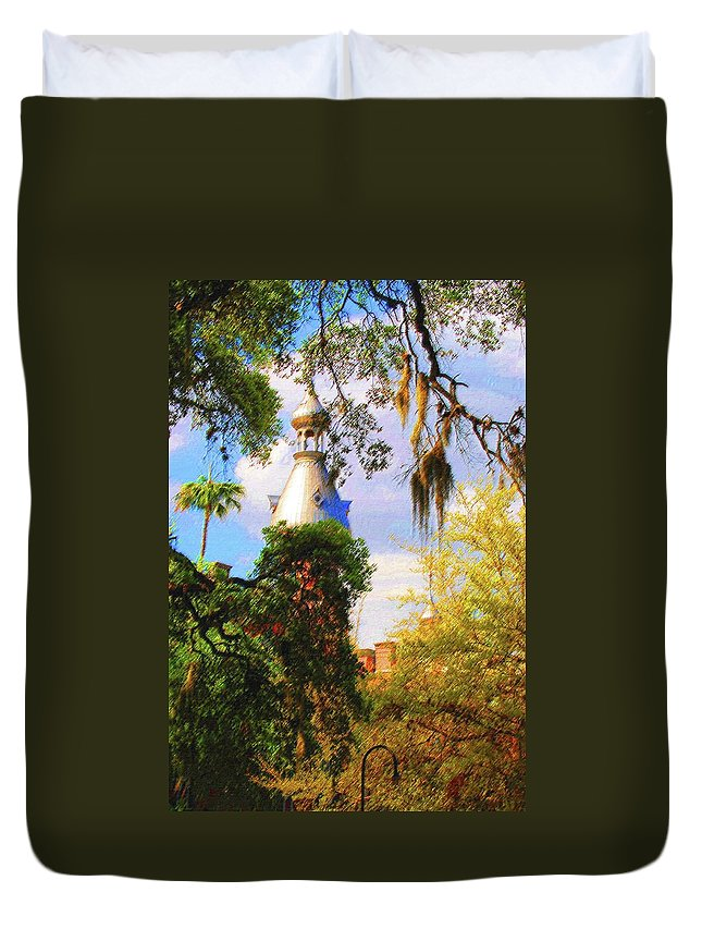 Unviersity Of Tampa Duvet Cover featuring the photograph Old Florida by Jost Houk