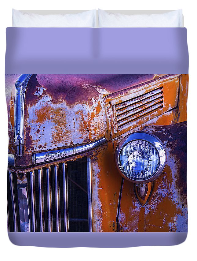 Truck Duvet Cover featuring the photograph Old Ford Pickup by Garry Gay