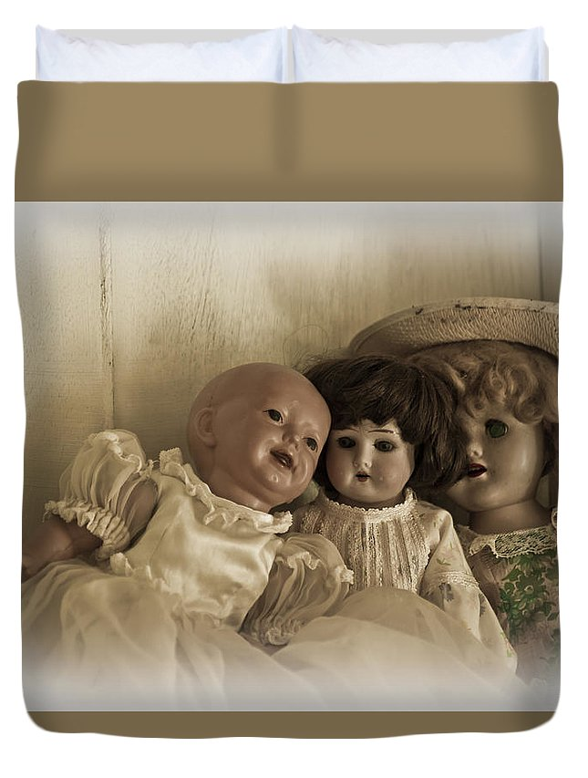 Antiques Duvet Cover featuring the photograph Old Friends by Carolyn Marshall