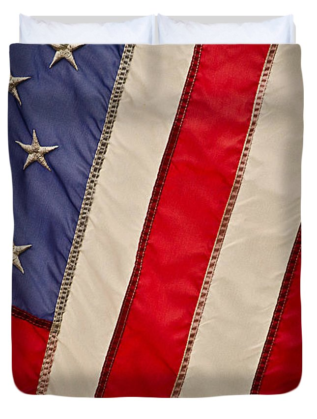 Old Glory Duvet Cover featuring the photograph Old Glory by Kevin Morris